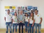 Francisco Castellano recibe al  CVP NET 7 Voley Playa, campeonas de España cadetes