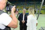 La televisión lituana que retransmitirá la Copa del Mundo 2014 visitó el Gran Canaria Arena