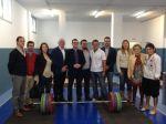 El consejero insular de Deportes inauguró el Gimnasio de Halterofilia de Barreto