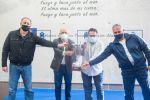 Antonio Morales y Francisco Castellano reciben al CV CCO 7 Palmas en la Casa Palacio del Cabildo de Gran Canaria