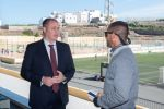 Castellano visita las instalaciones deportivas de Arucas y muestra su predisposición a iniciar las obras de mejora en 2020