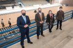 Francisco Castellano visita las obras de remodelación del Polideportivo Municipal de Agüimes