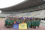 El Gran Canaria Arena despierta el entusiasmo de los jóvenes deportistas del Club Atlético Marzasport