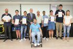 Veinticinco jóvenes con discapacidad reciben un certificado europeo que les acredita como monitores de actividades deportivas