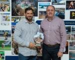 Castellano recibe al luchador, medalla de oro en los Juegos Mediterráneos de Deporte Playa, Pedro Jacinto García