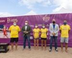 La playa de Las Canteras se convierte esta semana en capital del tenis playa mundial con la celebración del SAND SERIES ITF BEACHTENNIS GRAN CANARIA 2021.