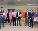 Lucas Bravo de Laguna felicita a los organizadores del Yellow Bowl por su promoción de Gran Canaria y el deporte base