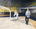 El IID desinfecta a fondo el Gran Canaria Arena para la vuelta a la normalidad