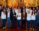 El Cabildo grancanario agasaja al Rocasa, campeonas de la Copa de la Reina