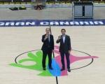 El Gran Canaria Arena se prepara para la Copa del Mundo con la instalación del parquet oficial de la FIBA