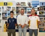 Recibimiento al gimnasta Acorán de la Santa Fe tras obtener la medalla de plata en el europeo de Trampolín