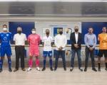 Los equipos grancanarios de la Segunda División RFEF estrenan camiseta oficial con el esponsor de 'Gran Canaria Isla Europea del Deporte'