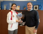 Castellano recibe a campeona  de España absoluto, la taekwondista canaria, Adriana Hernández