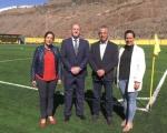 Castellano visita las instalaciones deportivas de La Aldea y se compromete a acometer las obras necesarias para su mantenimiento