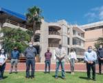 Francisco Castellano inaugura las nuevas instalaciones de los servicios de la Ciudad Deportiva, tras las obras de mejoras