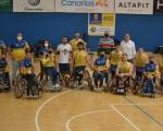 Francisco Castellano, con el BSR Econy Gran Canaria en su partido ante el Amiab Albacete